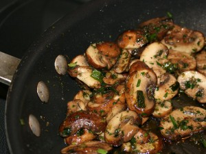 Sauteed Mushrooms with Green Garlic