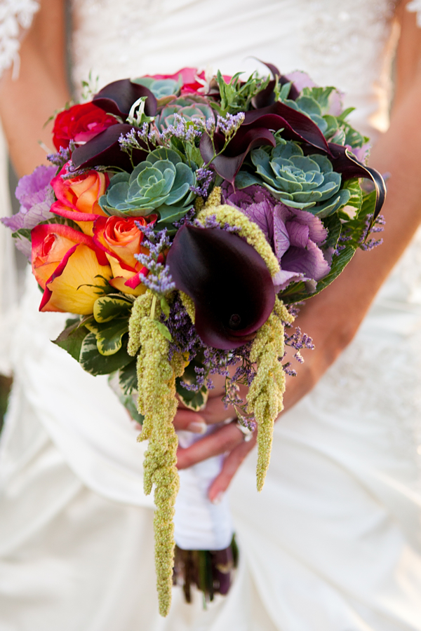 How many wedding bouquets have you seen that feature cabbage kale