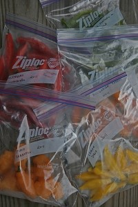 Hot Peppers in the Freezer